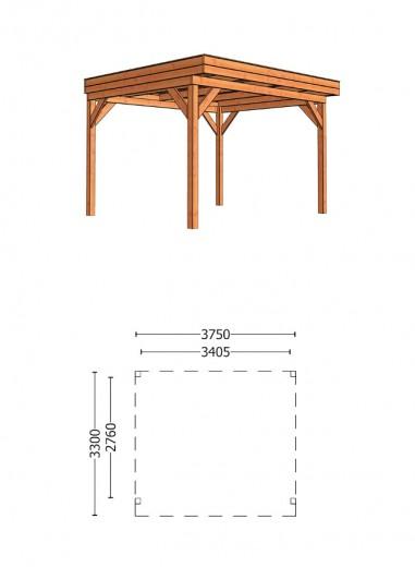 Trendhout | Buitenverblijf Casa 3750 mm | Combinatie 1