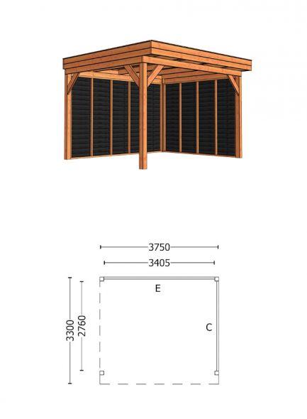 Trendhout | Buitenverblijf Casa 3750 mm | Combinatie 2