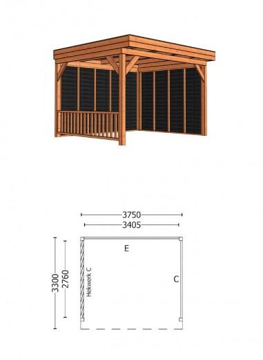 Trendhout | Buitenverblijf Casa 3750 mm | Combinatie 3
