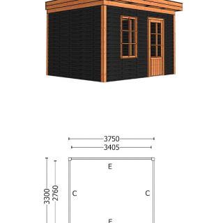 Trendhout | Buitenverblijf Casa 3750 mm | Combinatie 4