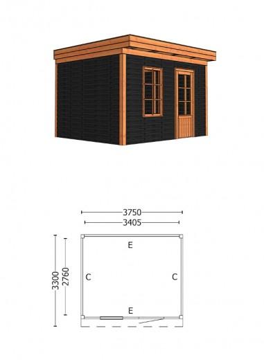 Trendhout   Buitenverblijf Casa 3750 mm   Combinatie 4