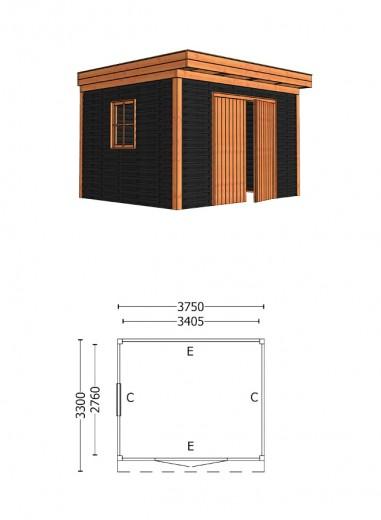 Trendhout | Buitenverblijf Casa 3750 mm | Combinatie 5