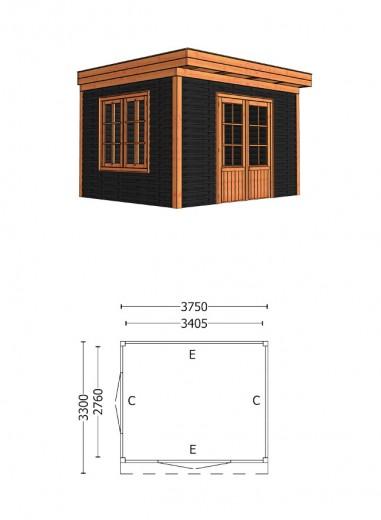 Trendhout | Buitenverblijf Casa 3750 mm | Combinatie 6