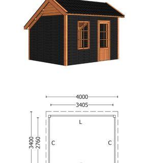 Trendhout | Kapschuur De Deel 4000 mm | Combinatie 4