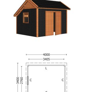 Trendhout | Kapschuur De Deel 4000 mm | Combinatie 5