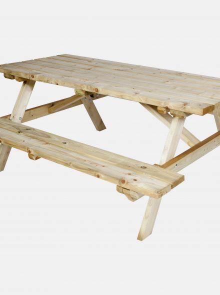 CarpGarant | Vuren picknicktafel 240 cm | Bank opklapbaar