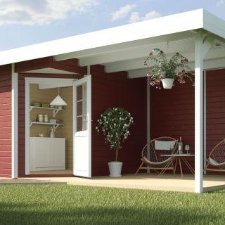 WEKA | Designhuis 213B Gr.1  | 240x541 cm | Zweeds rood