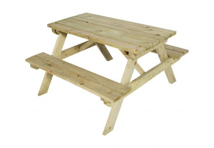 CarpGarant | Picknicktafel Junior | Vuren | 52x90x90