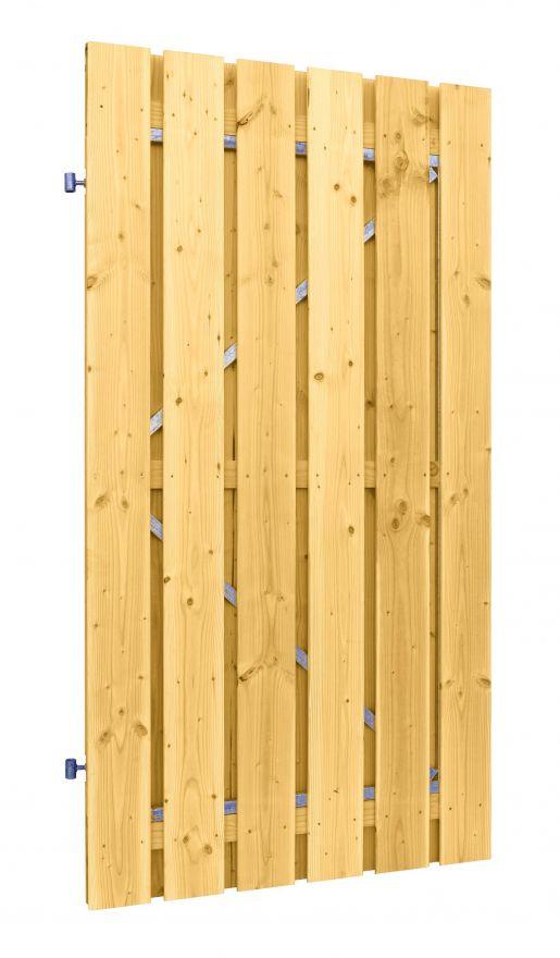 Douglas plankendeur | 100 x 190 cm | Geschaafd | Groen geïmpregneerd