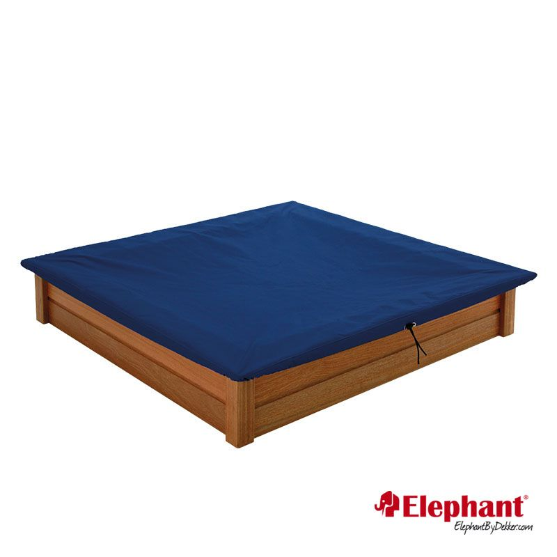 Elephant | Zandbak met dekzeil | Hardhout