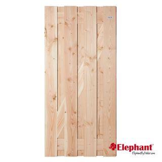 Elephant | Timber tuindeur | 90x180 cm | Douglas