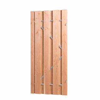 Carpgarant | Douglas poort op stalen frame | Rechtsdraaiend | 100 x 195cm