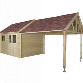 Gardenas | Blokhut Coventry XL geimpregneerd | 720x320 cm