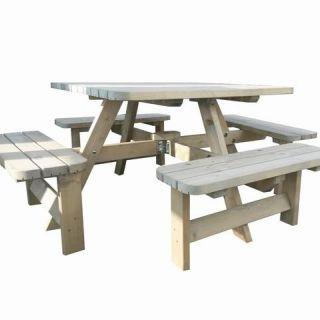 Westwood   Rugleuning ten behoeve van picknicktafel Deluxe vierkant   Set