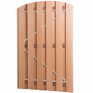 Plankendeur hardhout op verstelbaar stalen frame | Toog DIK met slot