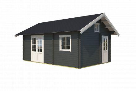 Westwood | Blokhut Caroline | Carbon Grey | 595x410 cm