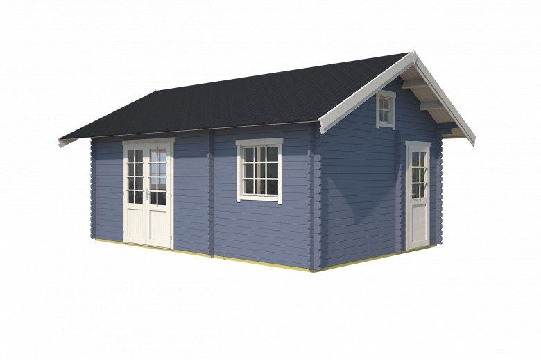 Westwood | Blokhut Caroline | Pigeon Blue | 595x410 cm