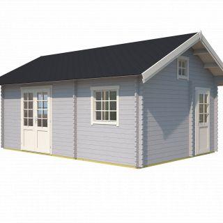 Westwood | Blokhut Caroline | Platinum Grey | 595x410 cm