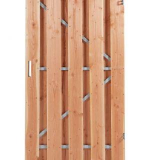 Carpgarant | Douglas poort | Universeel | op stalen frame fijnbezaagd | 120 x 190cm