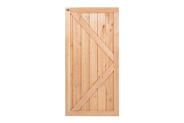 Douglas dichte deur 180 x 99 geschaafd | CarpGarant