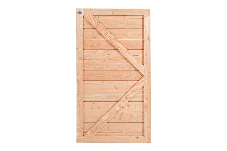 Douglas dichte deur 180 x 99 geschaafd horizontaal | CarpGarant