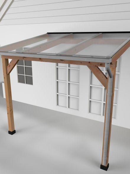 Westwood | Douglas Terrasoverkapping | Comfort | Helder | 306x250cm | Muuraanbouw