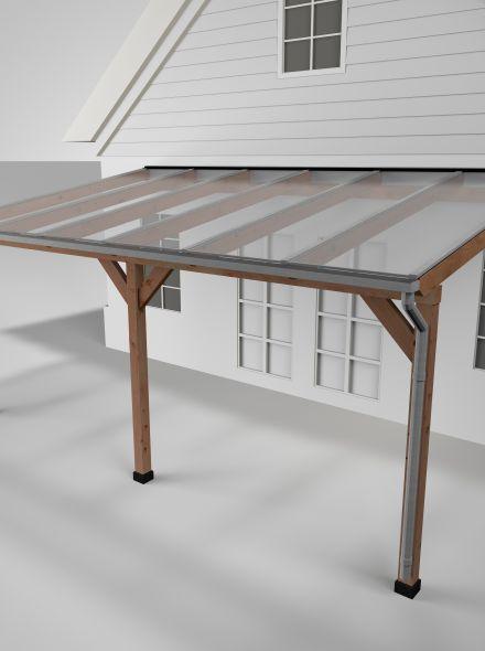 Westwood | Douglas Terrasoverkapping | Helder | 606x350cm | Muuraanbouw