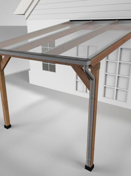 Westwood | Douglas Terrasoverkapping | Comfort | Helder | 306x400 | Muuraanbouw