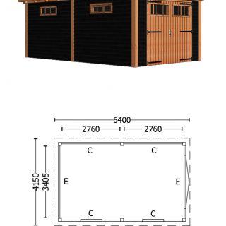 Trendhout | Buitenverblijf Sienna 6400 mm | C5