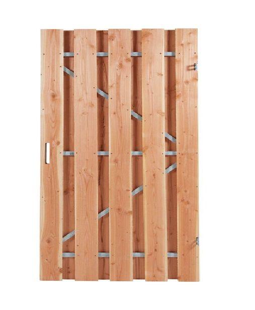 Carpgarant | Douglas poort | Universeel | op stalen frame geschaafd | 120 x 190cm