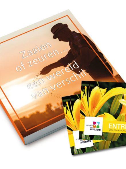 Tuinwijshedenboekje 'Zaaien of zeuren.. een wereld van verschil!' + 2 Entreekaarten