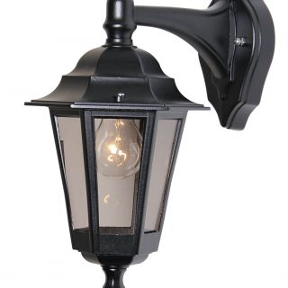 buitenverlichting armatuur Berlusi II. wand hang zwart (FL125-10)