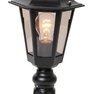 buitenverlichting armatuur Berlusi II. sokkel 48 cm zwart (FL126-10)