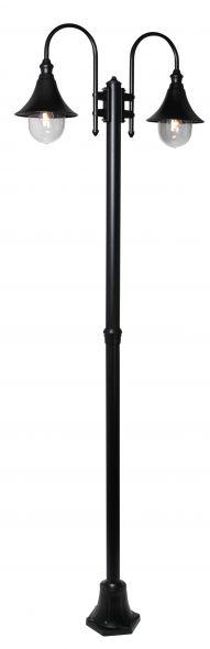buitenverlichting armatuur Calice II. 2-licht 240cm zwart (FL702-10)