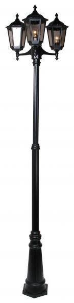 buitenverlichting armatuur Cartella II. 3-licht 229cm zwart (FL2066-10)