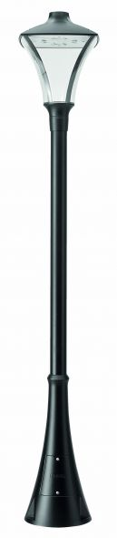 buitenverlichting armatuur City highlight Mast 178m. kap24W led. 3000K. Grafiet (10-20285)