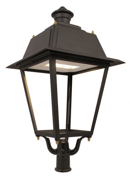 buitenverlichting armatuur City highlight paaltoparmatuur Klassiek 4-kant, Led (10-462256)