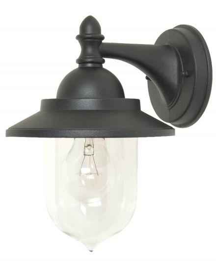 buitenverlichting armatuur Finmotion, wandlamp zwart, kelk (21079)