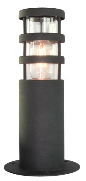 buitenverlichting armatuur Finmotion, Sokkellamp. Rvs 304. Kleur zwart (21081)