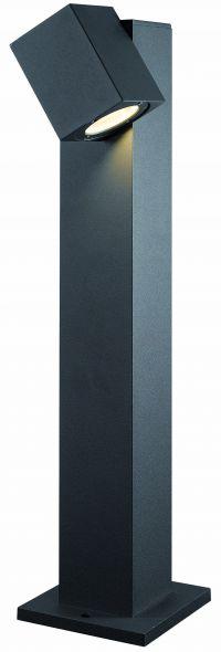 buitenverlichting armatuur Finmotion, Staand 65cm. Led 7w. Vierkant, richtbaar (21084)