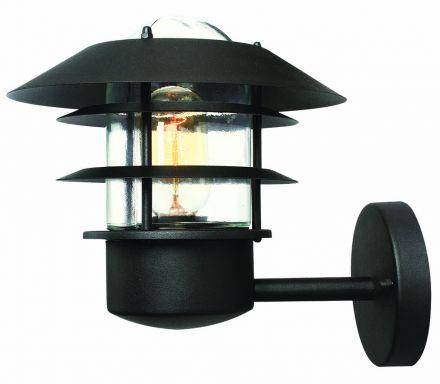 Wandlamp, staand. RVS zwart (4060)