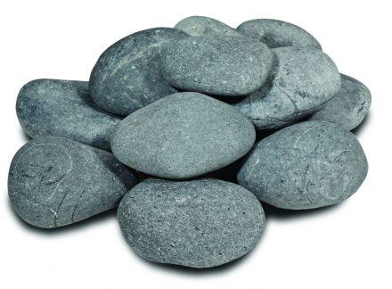 Beach Pebbles zwart (platte keien)