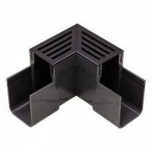 ACO Slimline hoekelement zwart aluminium (Easygarden 19007)
