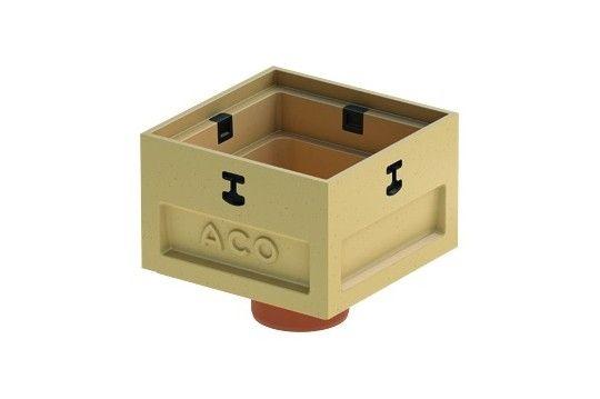 ACO Europoint modulaire afwateringspunt lage put onderbak (Incl, Spie Ø110 Afm. 250x250x210mm)