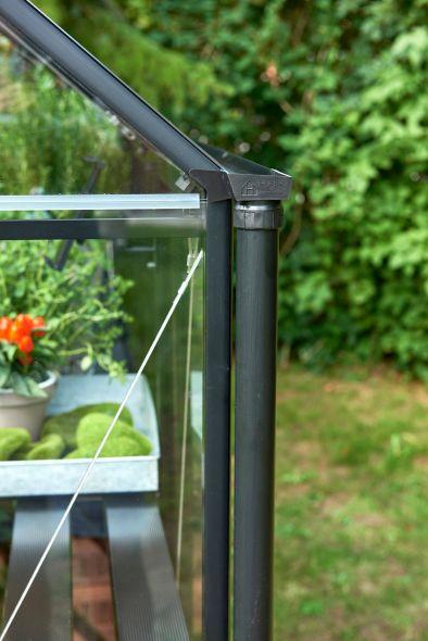 Regenpijpen Qube zwart (2 gootzijden)