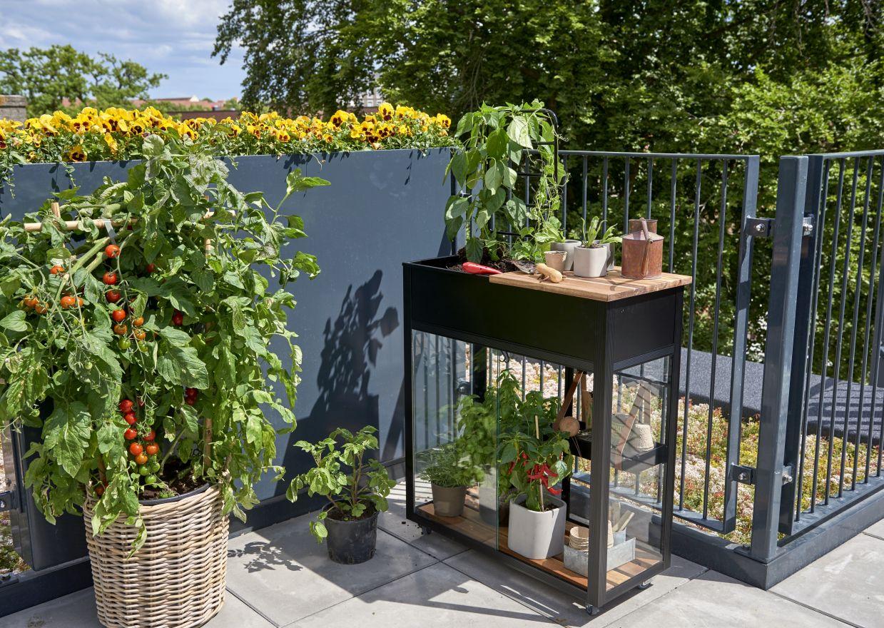 Balkonkas Vertical Garden zwart