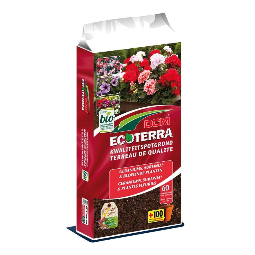 DCM Ecoterra Geraniums & Bloeiende Planten (60 ltr)