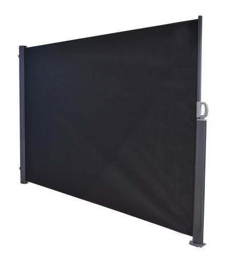 Oslo Windscherm oprolbaar 180x300 (mat carbon black/ donker grijs)