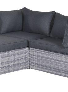 Garda balkon lounge set 5-dlg - cloudy grey/reflex black