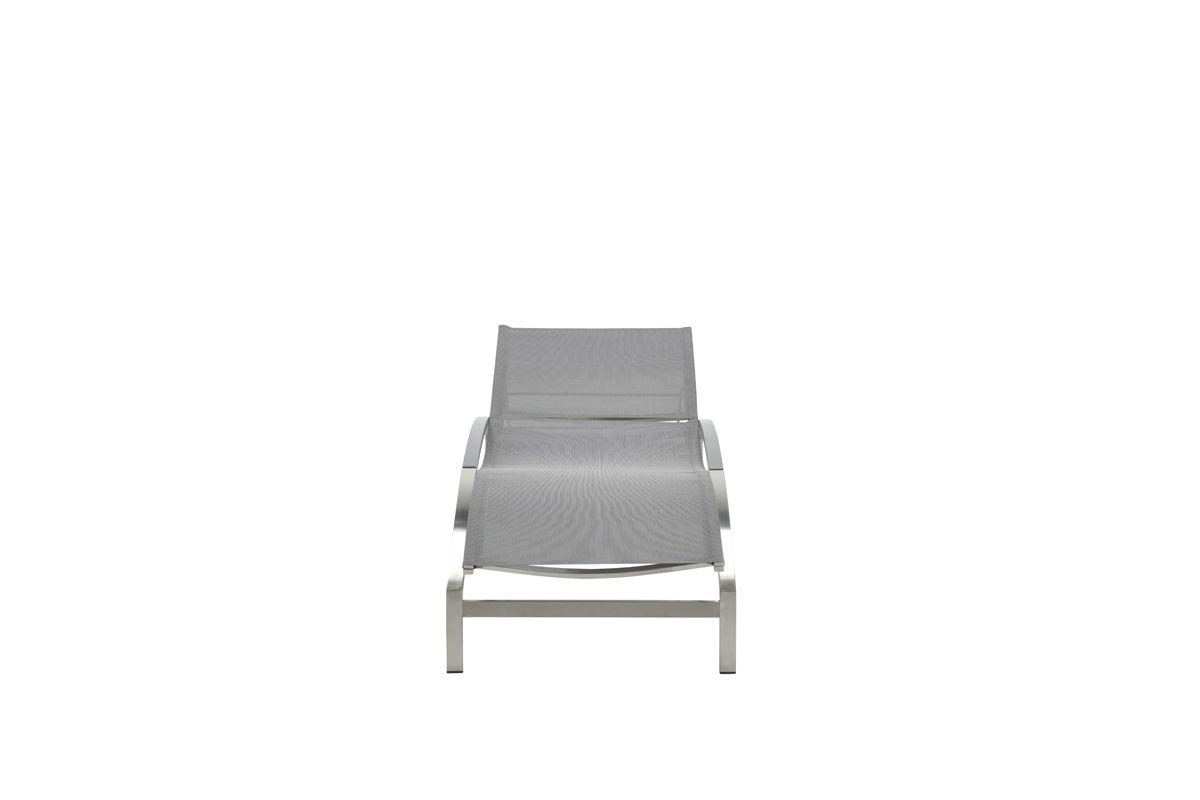 Bergamo ligbed (RVS/grey textilene)